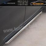 Защита штатного порога d63 Subaru Форестер/Forester