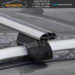 Авто багажник на рейлинги с аэродинамическими дугами