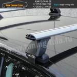 Багажник на крышу Рено Логан/Lux с аэродинамическими дугами