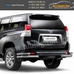 Защита заднего бампера d63/76 уголки Тойота LC Prado 150