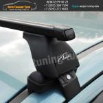 Багажник на крышу Хэнде Солярис седан или хэтч  / Lux  с прямоугольними дугами