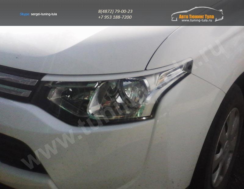 Накладки фар – Реснички Mitsubishi Outlander III 2012-/ арт.542