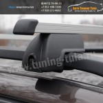 Багажник с прямоугольными дугами, универсальный на рейлинги LUX(Россия)