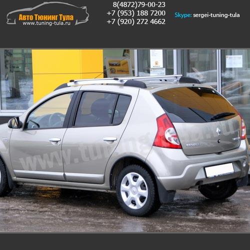 Багажник на крышу Рено Сандеро/Рейлинги+поперечины / арт.511