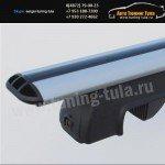 Багажник с аэродинамическими дугами, универсальный на рейлинги LUX(Россия)