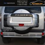 Защита заднего бампера d63  Митсубиши Pajero 4 2012+