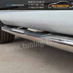 Пороги/Подножки d76 с накладками VW Туарег с 2010+