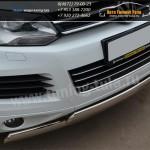 Защита бампера двойная d75x42 овал VW Туарег с 2010+