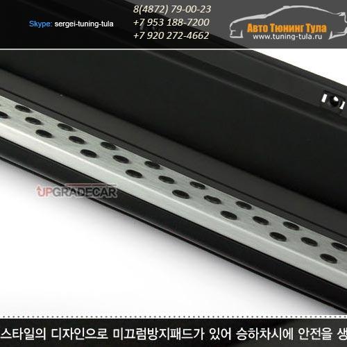 Пороги BMW-стиль Symas(Корея) Ssang Yong Action NEW с 2011г/арт.574