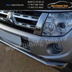 Защита бампера d63 или d76 дуга Митсубиши Pajero4 2012+