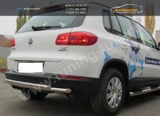Защита задняя двойная d57+d42 VW Tiguan/Тигуан 2011г/арт.551-4