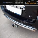 Защита бампера d75x42 овальная  Рено Дастер 4x4