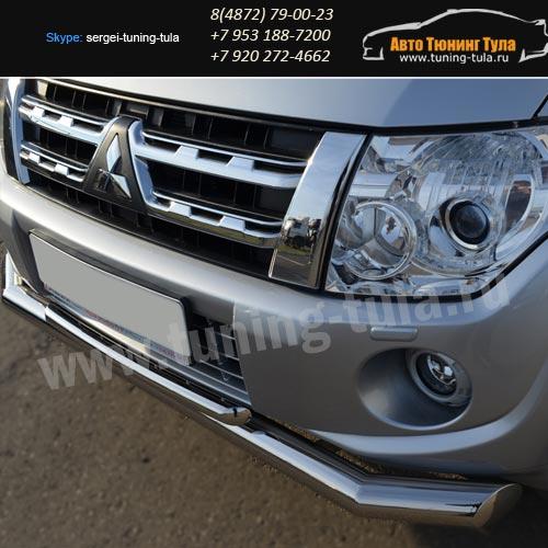 Защита бампера d76/42 двойная Митсубиши Pajero 4 2012+ / арт.593-1