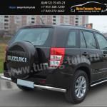 Защита бампера под фаркоп d63 -уголки  Suzuki Grand Vitara с 2012+