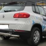 Защита задняя двойная d57+d42 VW Tiguan/Тигуан 2011г
