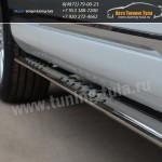 Пороги/Подножки d75x42 овал VW Туарег с 2010+