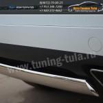 Защита бампера d75x42 овал  VW Туарег с 2010+