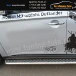Пороги d42 с листом Митсубиси OUTLANDER 2012