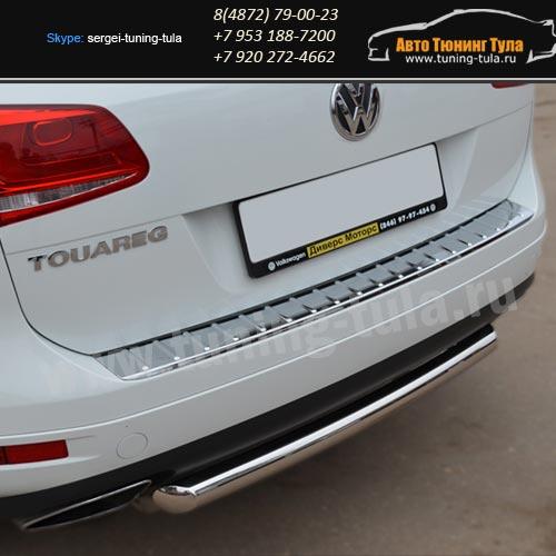 Защита бампера d63 или d76 дуга VW Туарег с 2010+ / арт.583-1