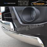 Защита бампера d75x42 -овалы  Suzuki Grand Vitara с 2012+