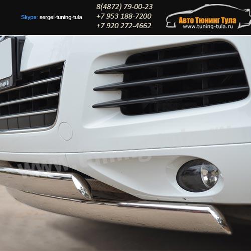 Защита бампера двойная d75x42 овал VW Туарег с 2010+ / арт.583