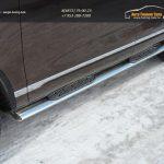 Пороги/Подножки 120x60 овал VW TOUAREG 2010+