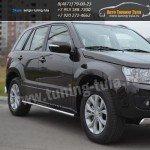Защита/Пороги d75x42 овал Suzuki Grand Vitara с 2012+