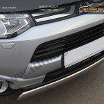 Защита бампера передняя d75x42 овал Mitsubishi OUTLANDER 2012+