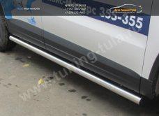 Пороги труба d76 VW Tiguan/Тигуан 2011г/арт.293-59