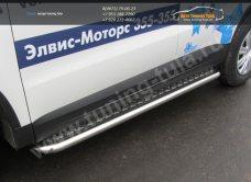 Пороги с листом d57 VW Tiguan/Тигуан 2011г/арт.293-64