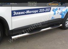 Пороги труба с проступями d76 VW Tiguan/Тигуан 2011г/арт.293-65