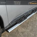 Пороги овальные с накладками 120х60 мм Митсубиши Outlander 2012+