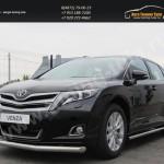 Защита переднего бампера d76 Toyota VENZA 2013+