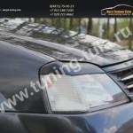 Накладки фар вар.2/ресницы/Рено Логан 2004-09г арт