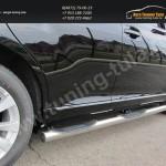 Пороги труба проступью d76 Toyota VENZA 2013+