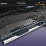 Пороги труба с накладками d76 Митсубиши Outlander 2012+