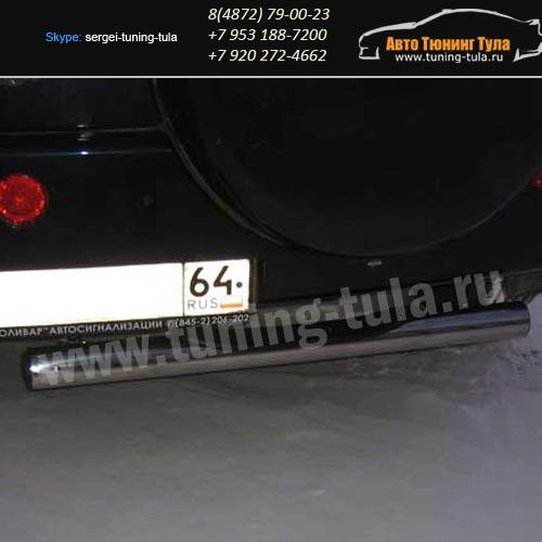 Защита заднего бампера с накладкой d76 Chery Tiggo/арт289-5