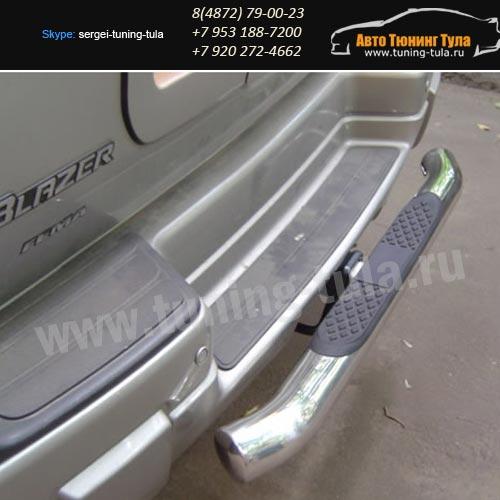 Защита заднего бампера d76 Chevrolet Trailblazer 2005–08г /арт.615