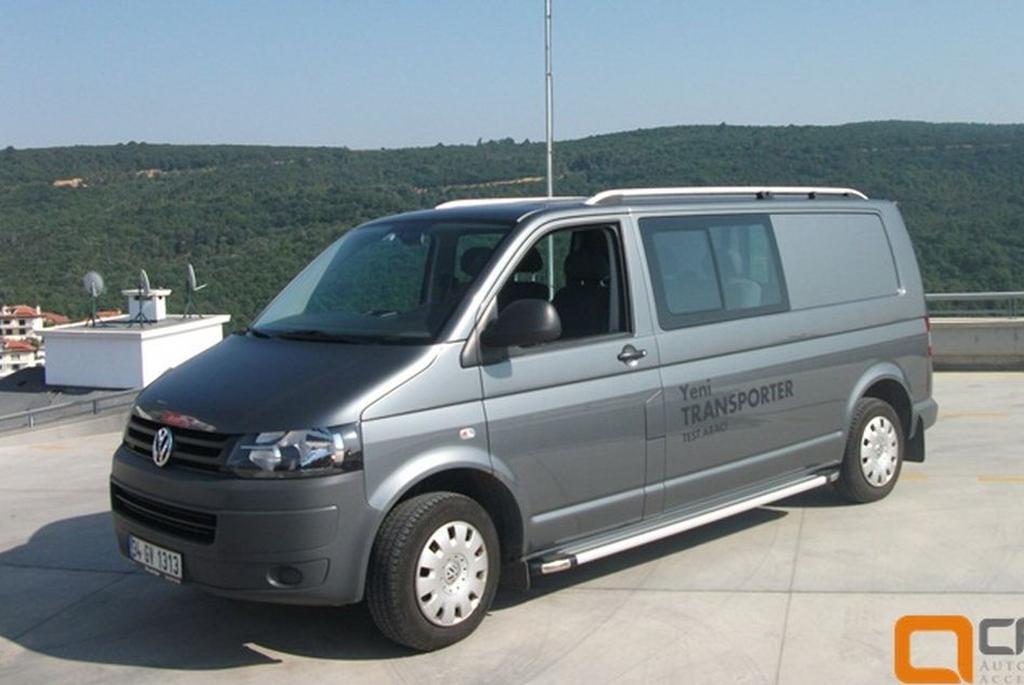 Рейлинги CAN VW T5 Transporter 2003, T6 2015- (короткий кузов)/пластмассовые наконечники/арт.486