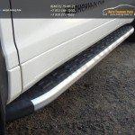 Пороги / подножки алюминиевые Toyota Highlander 2014 +