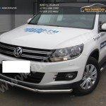 Защита передняя труба двойнаяя d57+d42 VW Tiguan/Тигуан 2011г
