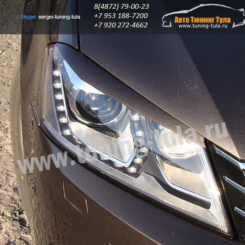Накладки фар/ресницы/ VW Passat B7 / арт.628