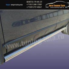 Пороги труба d76 Honda CR-V III /арт290-03