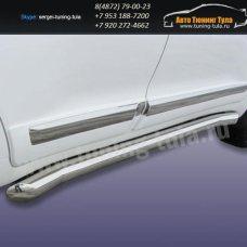 Пороги труба d76 Toyota Land Cruiser 200 2012г/291-29