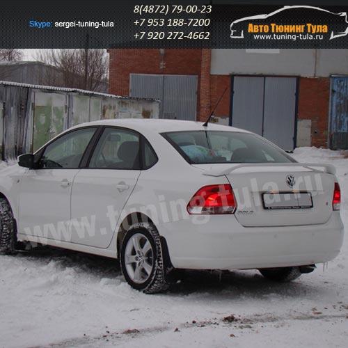 Спойлер высокий /АБС-пластик/ VW Polo sedan/Поло седан / арт.580-1