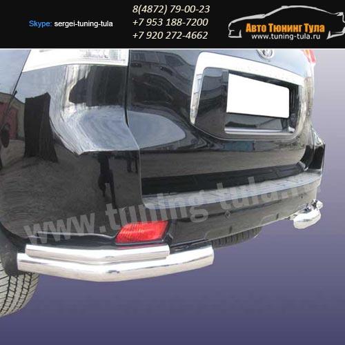 Защита задняя уголки d76+d42 Toyota Prado 150/арт290-43