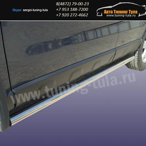Пороги труба d57 Honda CR-V III /арт290-04
