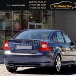 Юбка заднего бампера Форд Фокус 2 седан с 2004-08