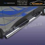 Пороги труба с накладками d76 Hyundai ix-35