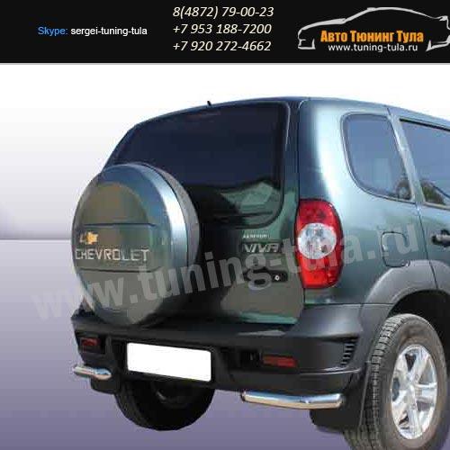 Защита заднего бампера уголки d57 Chevrolet Niva 2010г/арт289-59